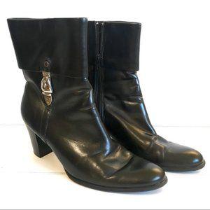 Etienne Aigner Black Heeled Boots NWOT 9M